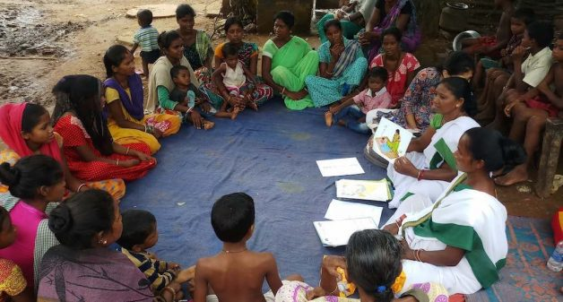 Accredited social health activists or ASHAs hold meetings in villages, creating awareness on maternal and child health (Photo by Gurvinder Singh)