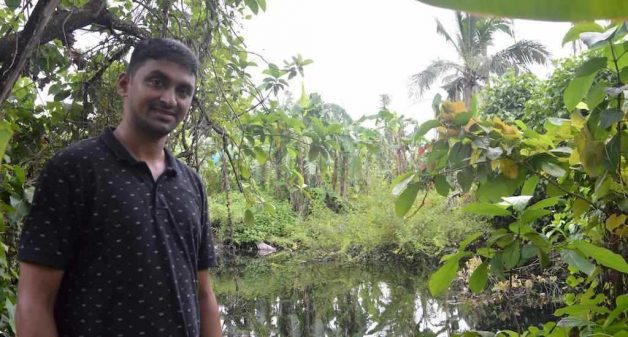 Sachin Marti and many other residents have revived traditional water ponds such as the one in Bhuigaon village (Photo by Hiren Kumar Bose)