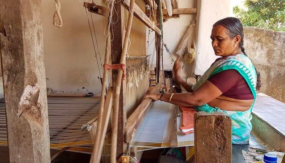 The craft of Kuthampully weavers in Kerala faces an uncertain future (Photo by Remya Padmadas)