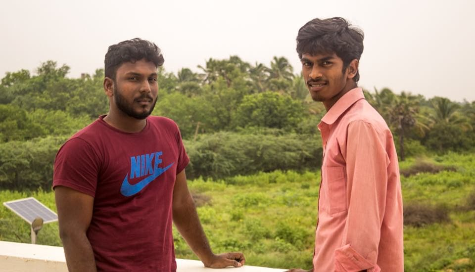 Training and local employment have enhanced the learning and economic status of rural youth like Mahesh and Kumaresan (Photo by Sharada Balasubramanian)