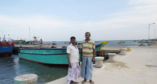 In Tharuvaikulam village, middle-aged men like Anthony Duraiswamy and Anthoniyar Pitchai switched from palmyrah-based livelihood to sustainable fishing (Photo by Jency Samuel)
