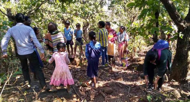 Gond children learn to conserve forests