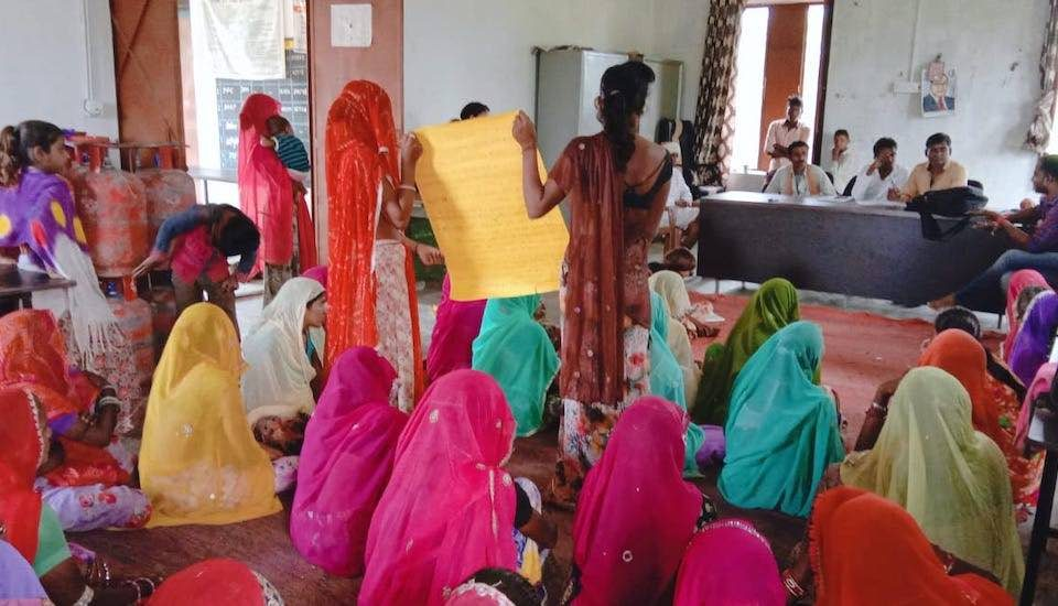 Women's collective such as the one in Khajuri panchayat have ensured that the local issues that concern them are discussed in the gram sabha meetings (Photo by Aajeevika Bureau)
