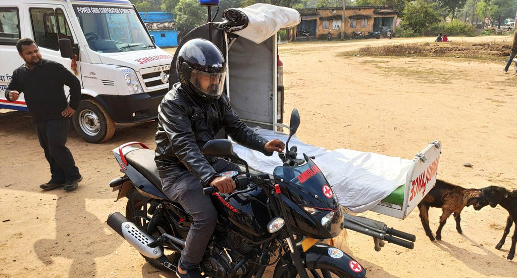 How bike ambulances help patients in remote areas access hospitals