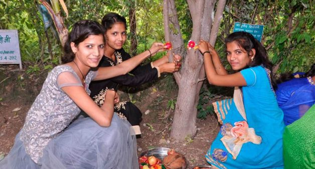 Piplantri plants 111 trees for birth of every girl child
