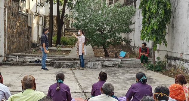 Participatory theatre helps frontline workers cope with burn-out